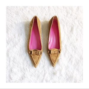 J. Crew Pointy Toe Loafer Tan Suede sz9.5
